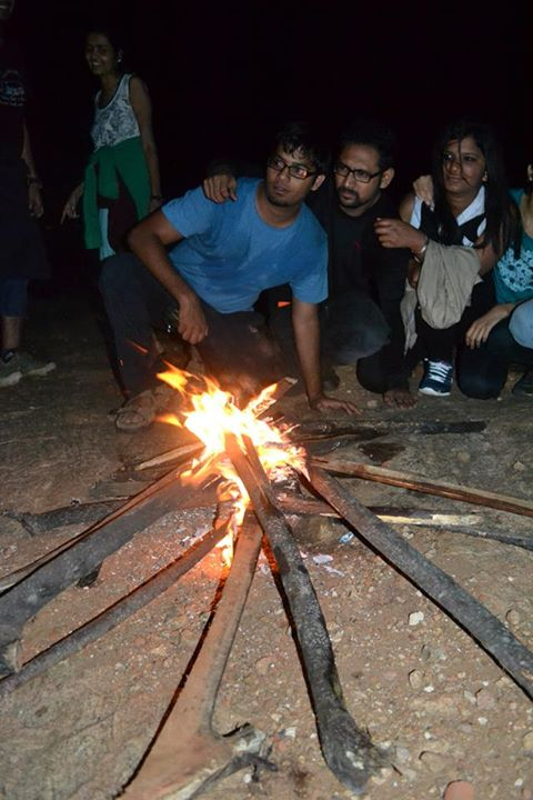 Bonfire in Kabbal Durga