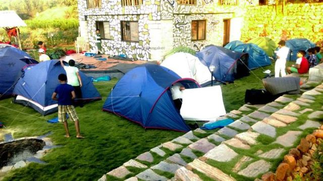 camping in resort