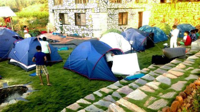 camping in resort
