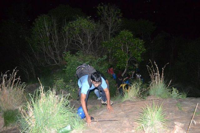 climbing Kabbal Durga Trekking