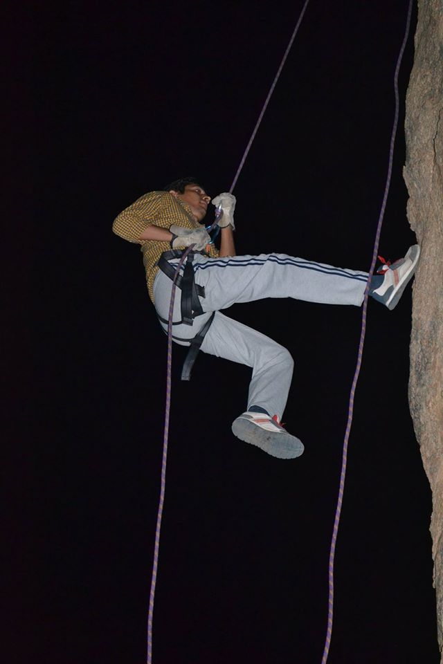 Ramanagara night trek with rappling 1