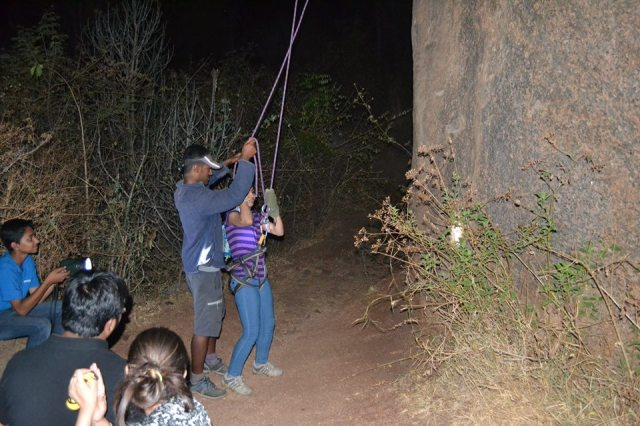 Ramanagara night trek with rappling 44