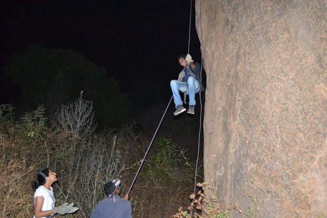 Ramanagara night trek with rappling 55