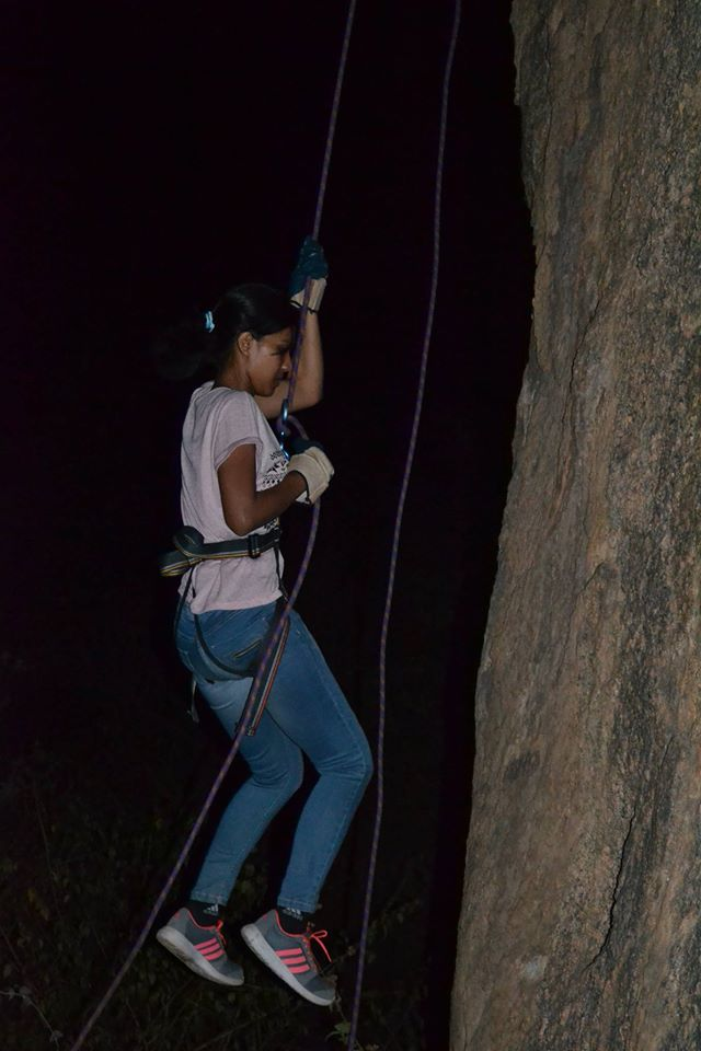 Ramanagara night trek with rappling