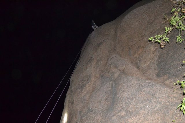 ramanagara rappelling in night