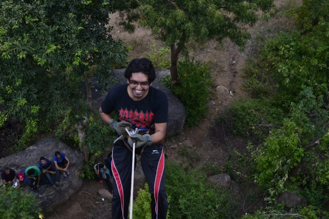 Rappelling at ramnagara india 1