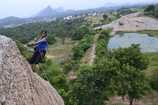 Rappelling in ramnagara india