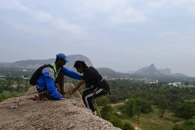 Rappelling ramnagara india