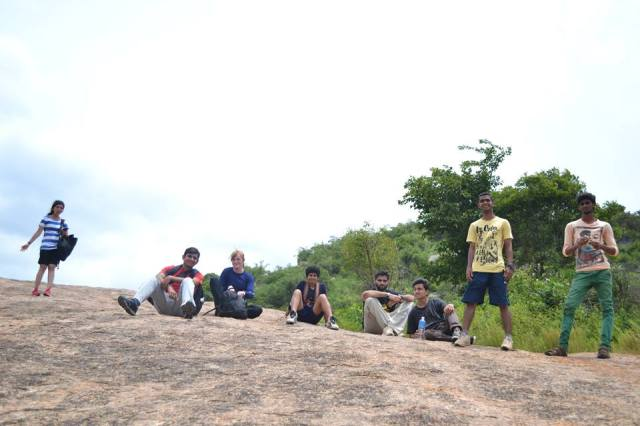 team resting at Day Outing Ramanagara