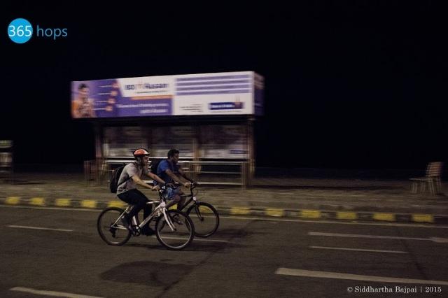 Midnight Cycling at Mumbai