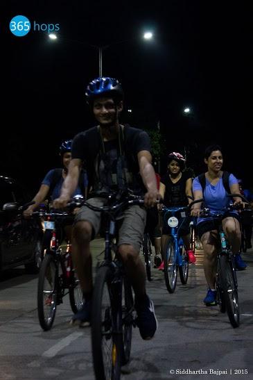 Midnight Cycling Heritage Ride at Mumbai