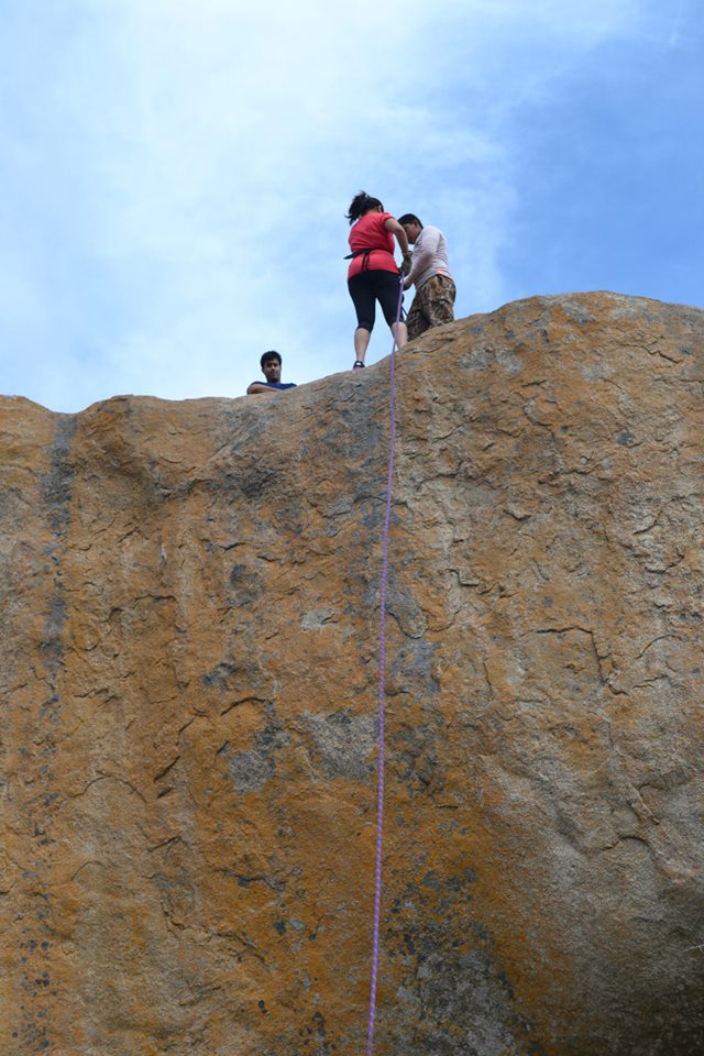 anthargange trek and rappelling