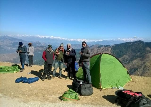Camping at Prashar Lake Himachal Pradesh india