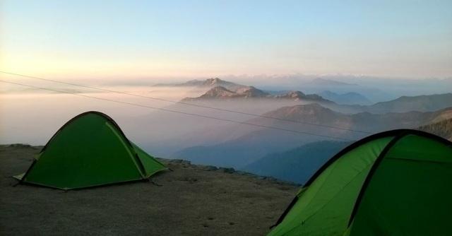 Camping at Prashar Lake Himachal Pradesh