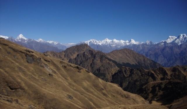 Camping in kuari pass trek Uttarakhand