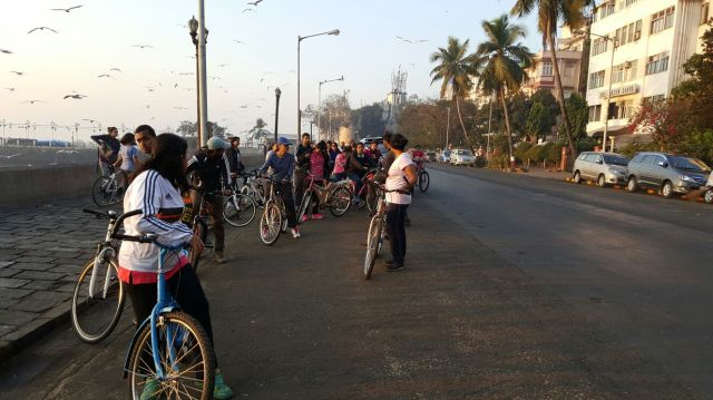 cycling in south mumbai