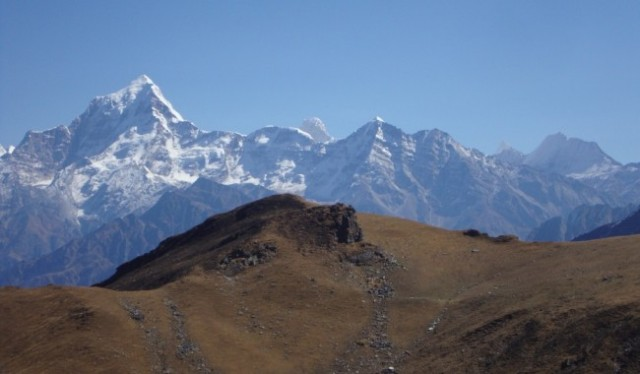 The Kuari Pass trek begins from Joshimath in india