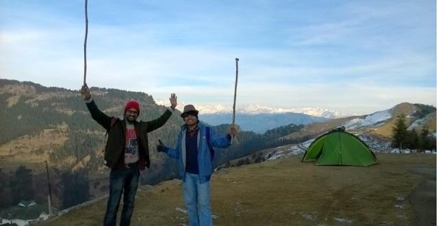 trekking to Prashar Lake 2