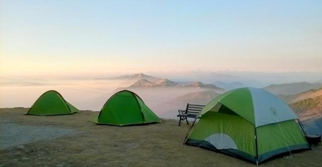trekking to Prashar Lake Himachal Pradesh india