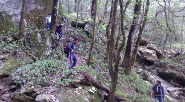 trekking to Prashar Lake