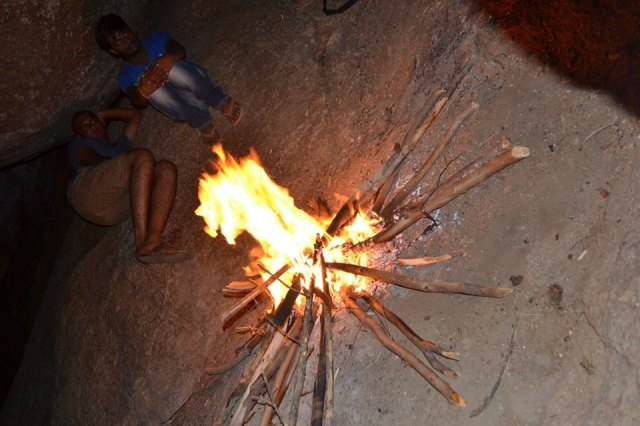 bonfire at kunti betta nigh trek