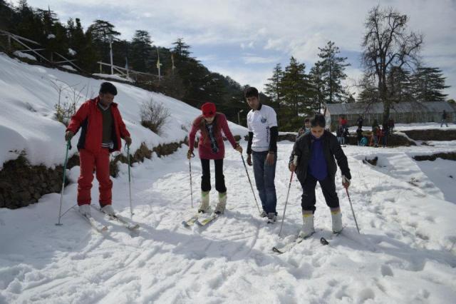skiing Mashobra
