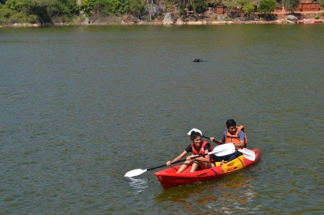 kayaking manchinbele dam trip 1