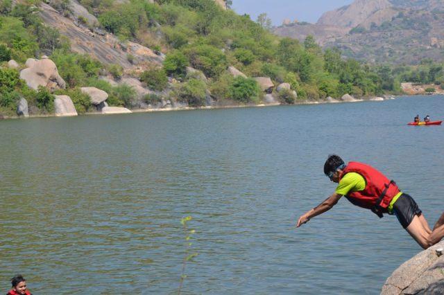kayaking manchinbele dam trip 11