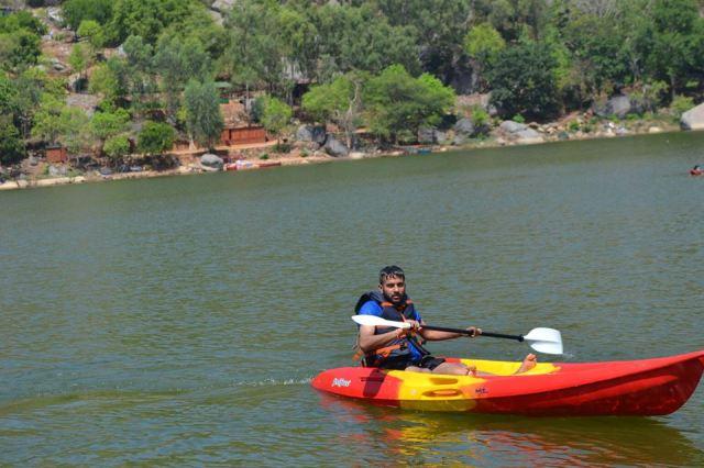 kayaking manchinbele dam trip 13