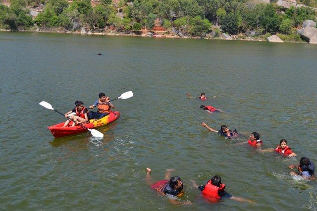 kayaking manchinbele dam trip 2