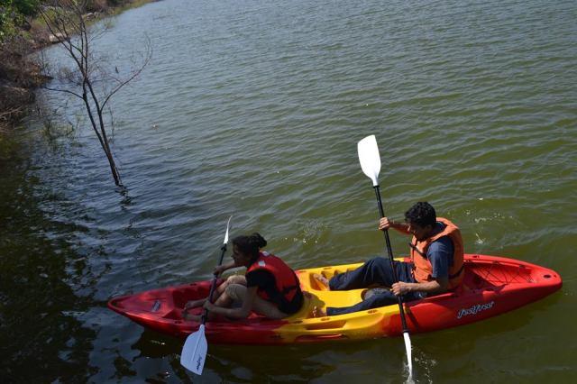 kayaking manchinbele dam trip 3