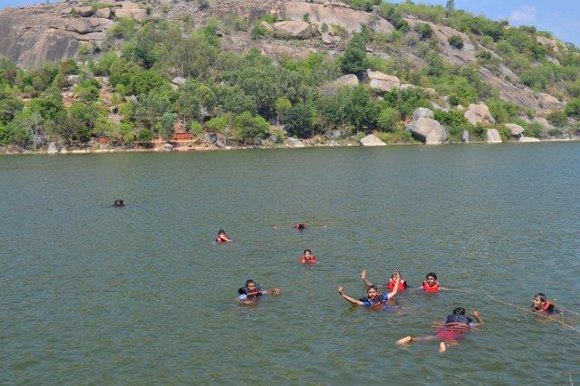 kayaking manchinbele dam trip 4