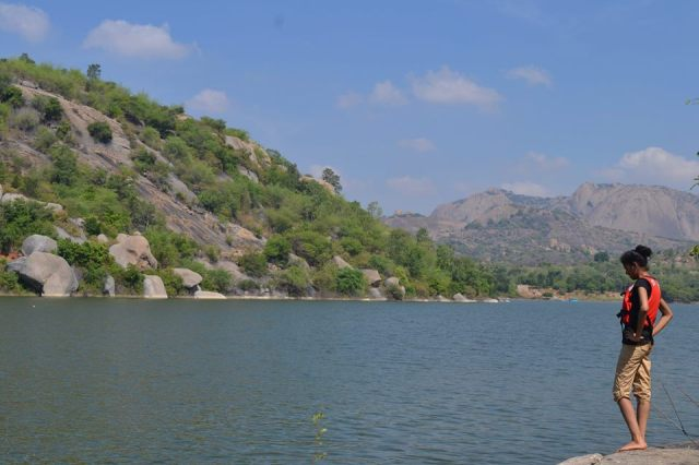 kayaking manchinbele dam trip 5