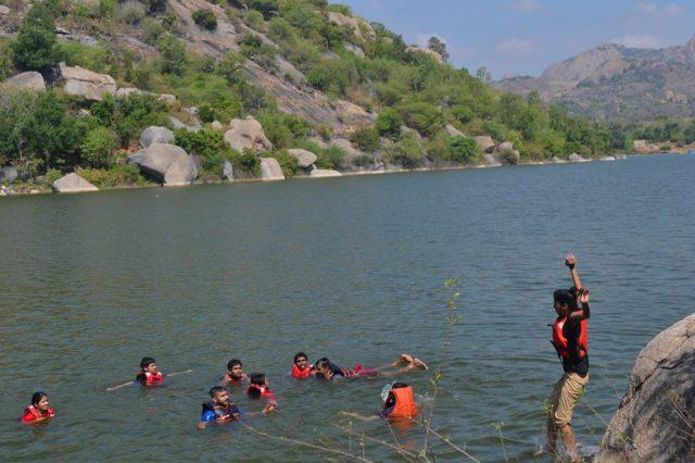 kayaking manchinbele dam trip 6