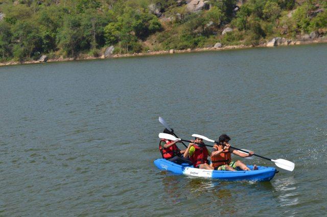 kayaking manchinbele dam trip 7