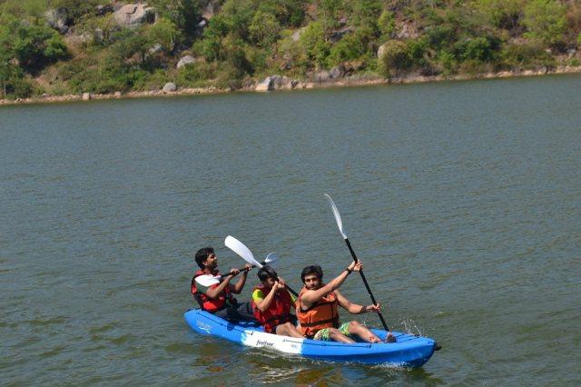 kayaking manchinbele dam trip 8