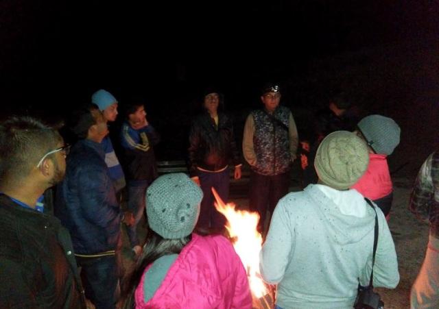 bonfir at parashar lake 3
